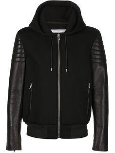 Givenchy biker sleeve hoodie