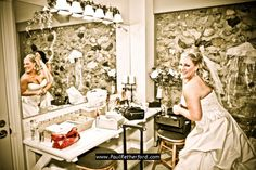 Castle Farms » Wedding Photography | Getting ready in dressing room