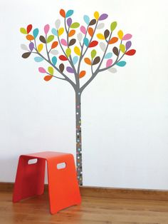 Multi-colored leaves is a cute idea... (Decal is ADzif Colours In The Woods by artist Ségo)