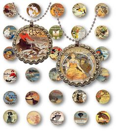 Digital Collage Sheet Vintage French Posters