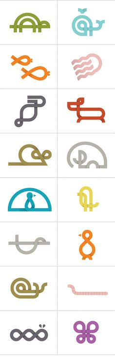 This edition of Icons of the week is sort of a special edition. Our good friend and very talented illustrator Mette Ranking, designed a range of cute and cool animal icons. The icons were done as a side project as Mette explains… Having worked on several Icon Design, Game Design, Creative Logo, Logo Animal, Typographie Fonts, Typography Design, Logo Design, Logo Luxury, Affinity Designer