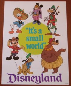 Image result for vintage style modern movie posters disney its a small world