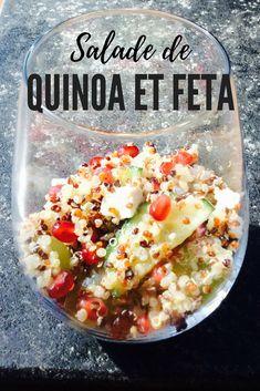 Salade du printemps de quinoa et de feta. #recette #recettes #cuisiner #cuisine #végétarien #receipt #receipts #salade Vinaigrette, Feta, Eggs, Breakfast, Healthy, Quinoa Salad, Salads, Cooking Food, Apple