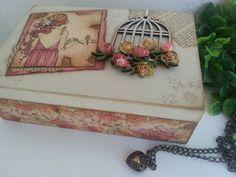 Lelé das Ideias - Caixa porta jóias ou bijuterias Vintage