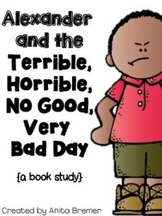 "FREE ""Alexander and the Terrible, Horrible, No Good, Very Bad Day"" book activities!"