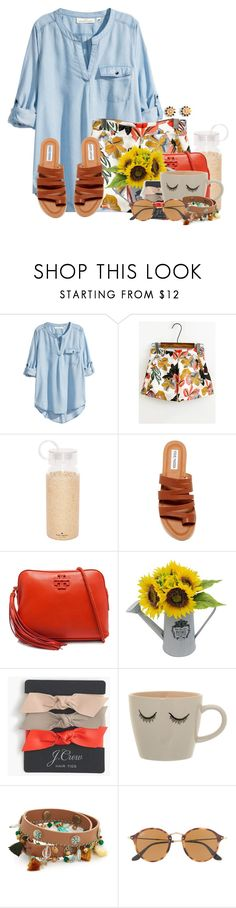 """Picture day today"" by flroasburn ❤ liked on Polyvore featuring H&M, Kate Spade, Steve Madden, Tory Burch, J.Crew, Bloomingville and Ray-Ban"