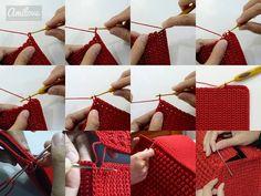 Bela Bolsa de crochê, Maravilhosa! imagem com gráfico e passo a passo..