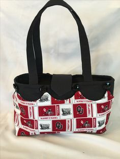 """Custom """"naked purse/tote with removable and reversible skirt"""". Check peggymasondesigns.com"""