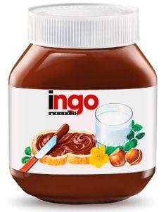 Tenho uma etiqueta da Nutella com o meu nome!