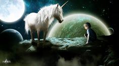 The Unicorn and the child by Altair-E.deviantart.com on @deviantART