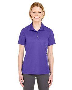 81ef0182 Cool & Dry Women's Moisture Wicking Polo Shirt, Purple Company Logo,  Golf Shirts