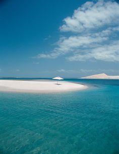 Come Lay under the lone umbrella at Pansy #Island. All part of #Anantara Bazaruto Island Resort & Spa in #Mozambique