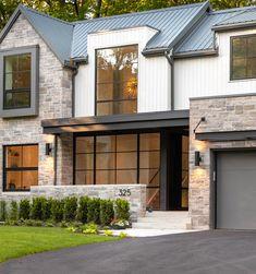 Modern home design – Home Decor Interior Designs Modern Farmhouse Design, Modern Farmhouse Exterior, Modern House Design, Modern Cottage, Farmhouse Style, House Front Design, Dream House Exterior, House Exteriors, Cottage Home Exteriors