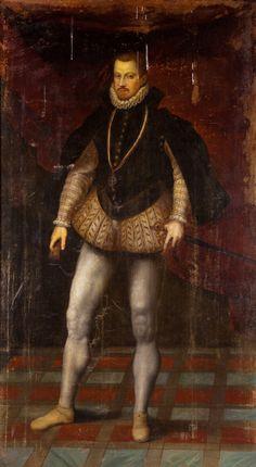 Portrait of Dom Sebastiao of Portugal bearing the Order of Christ cross, Spanish School, circa 1600-1630  Provenance: Collection Marqués de Leganés, nr 428 (inventory of 1655); Colección Duque de Sesto.