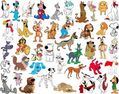 What kind of dogs were Snoopy, Scooby-Doo, Lady and the Tramp, and other iconic dog characters in films and television? Although these dogs are cartoons, they were all actually based off real live dog breeds. Cartoon Cartoon, Cartoon Shows, Best Dog Costumes, Cat Costumes, Classic Cartoon Characters, Classic Cartoons, Mickey E Donald, Cute Lockscreens, Dog Test