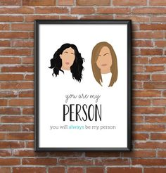 Grey's Anatomy You Are My Person 8x10 Quote by ThrillingDesigns