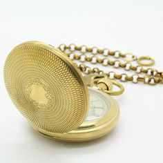 Amazon.com: E-future Antique Pure Brass Steampunk Unisex Rattrapante Chain Mechanical Pocket Watch: Watches
