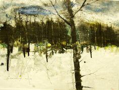 ... William Thon, Maine Winter, 1990, Watercolor