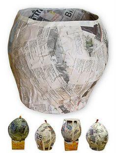 Art Projects for Kids: Paper Mache Bowl, Part 1