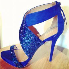 Blue wedding shoes Blue Swarovski High Heels by ANGELESQUEshoes, $275.00