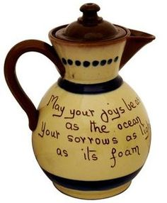 Torquay Ware.  Love the quote: May your joys be as deep as the ocean, Your sorrows as light as the foam.