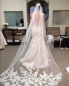 Luxus Hochzeit Schleier Ivory Kathedrale Schleier