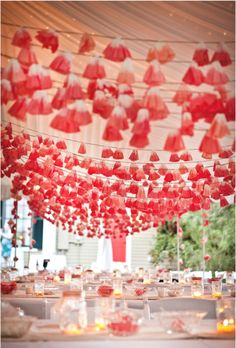 Can you believe these garlands are made from coffee filters?