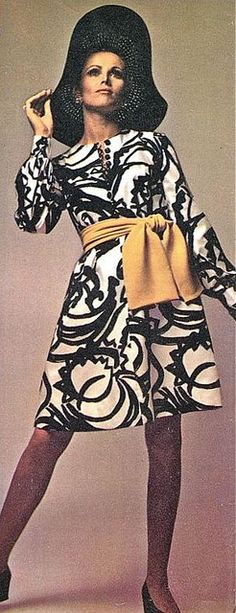 Model Margrit Ramme is wearing a creation by Carven.French Vogue,August 1969.