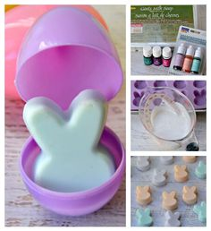 How adorable is this?!! Melt & Pour Bunny Soap scented with essential oils…
