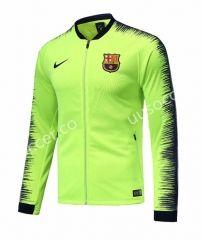 2018 19 Barcelona Fluorescent Green Thailand Soccer Jacket Jackets Soccer Training Jacket Jacket Sale
