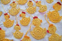 Háčkované kuriatka žlté veľké