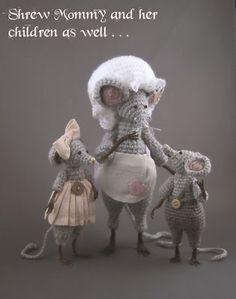 Crochet Shrew Mice