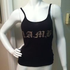 L.A.M.B tank top Black L.A.M.B. tank-top by Gwen Stefani. Worn once. Super cute and comfy! Size medium. Price firm. NO trades/NO Paypal. L.A.M.B. Tops Tank Tops