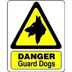 S1415 DANGER GUARD DOGS WARNING SAFTEY METAL WALL SIGN Advertising Signs, Wall Signs, Metal, Dogs, Wall Plaques, Sandwich Boards, Pet Dogs, Metals, Doggies