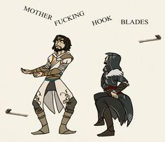 The hookblade dance. Posted on Tumblr.com (image credit annmonster) by everythingasscreed.