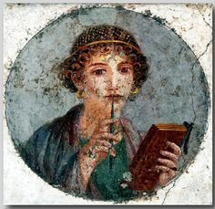 Ancient Pompeii and Herculaneum.    Roman paintings in ancient Pompeii and Herculaneum..  Museo Archeologico Nazionale, Naples. Italy