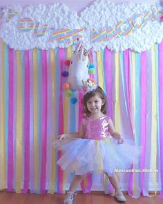 Unicorn Princess couture dress cake smash outfit first birthday outfit flower girls dresses custom made dress handmade pink yellow blue and purple second third fourth fifth birthday unicorn birthday theme
