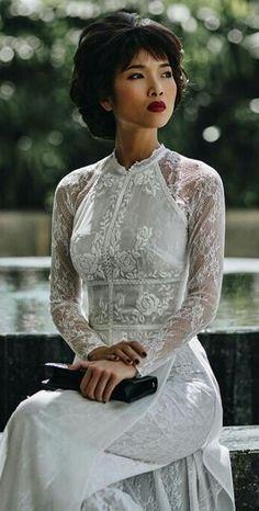 Áo Dài Vietnam Vietnamese Clothing, Vietnamese Dress, Vietnamese Wedding Dress, Vietnamese Traditional Dress, Traditional Dresses, Lace Ao Dai, Ao Dai Wedding, Asian Wedding Dress, Oriental Dress