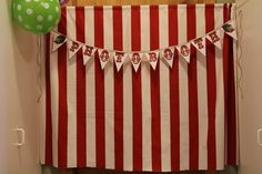 Create a photo booth with a circus tent backdrop.   17 Things For An American Horror Story Freak Show Halloween Party