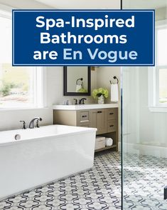 More homeowners are looking to pamper themselves with spa-inspired bathroom makeovers that mimic aspects of hotels and resorts. Spa Inspired Bathroom, Bathroom Makeovers, Hotels And Resorts, Bathtub, Real Estate, Magazine, Inspiration, Home, Design