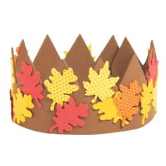 Name yourself the king or queen of autumn! A royal addition to fall crafts for kids, these crowns are accented with warm-hued leaves when completed. Fall Arts And Crafts, Easy Fall Crafts, Crafts For Kids To Make, Art For Kids, Kids Crafts, Thanksgiving Crafts, Autumn Crafts For Kids, Fall Crafts For Toddlers, Autumn Activities For Kids