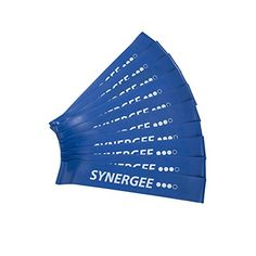 Synergee 10 Pack Mini Band Resistance Loop Exercise Bands Blue Heavy Resistance – Health and Fitness