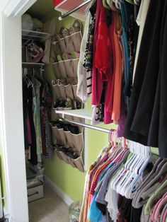 Studio Closet Finished Side - Hang dresses in that hard-to-reach corner of the closet