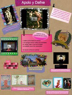 El mito de Apolo y Dafne fue el elegido por Sara Pérez para hacer este póster multimedia. Las relaciones que establece con distintas artes también son muy interesantes. Y por supuesto, la visión que tienen del mito alumnos de 1 º de ESO :-)
