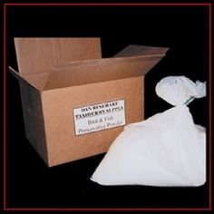 Preserve and deodorize bird and fish skins for your taxidermy project with one powder. Taxidermy Supplies, Preserves, Fish, Preserve, Pisces, Preserving Food, Butter, Pickling