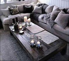 HV: Mijn droombank: een hoekbank vol met kussens en plaids in de mooiste materialen.
