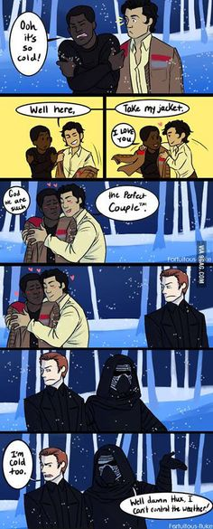 Well, dammit Hux! --not a Finn/Poe shipper, but this his funny!!