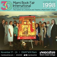 Poster unveiling at Miami Book Fair International, 1998