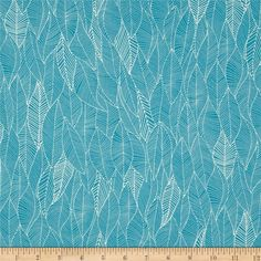 Robert Kaufman In the Bloom Abstract Leaves Turquoise from @fabricdotcom  Designed by Valori Wells for Robert Kaufman, this cotton print fabric is perfect for quilting, apparel and home decor accents. Colors include turquoise and white.