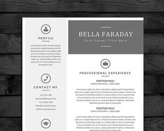 resume template cv template pc mac free cover letter us letter a4 instant download editable word doc docx pages - Resume Templates For Mac Free